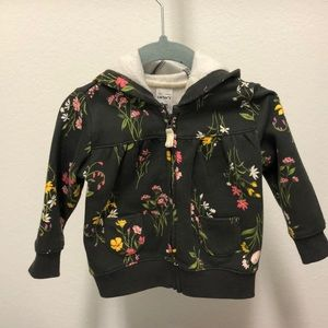 Carter's floral zip up hoodie